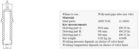 Keofitt W9 Welding Liner for 10x1 Steel Pipe (600074)
