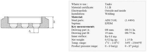 Keofitt Multi Micro Port 49 type T Valve (840001)