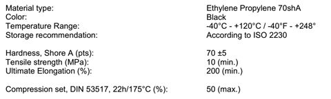 10 Pack O-Ring 14 x 4 EPDM (FDA) for Keofitt Multi Micro Port 49 (900824)